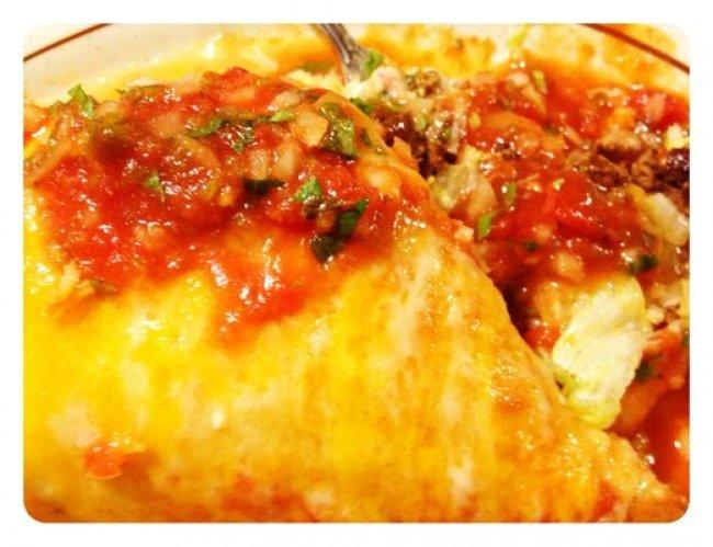 Carne Asada Wet Burrito