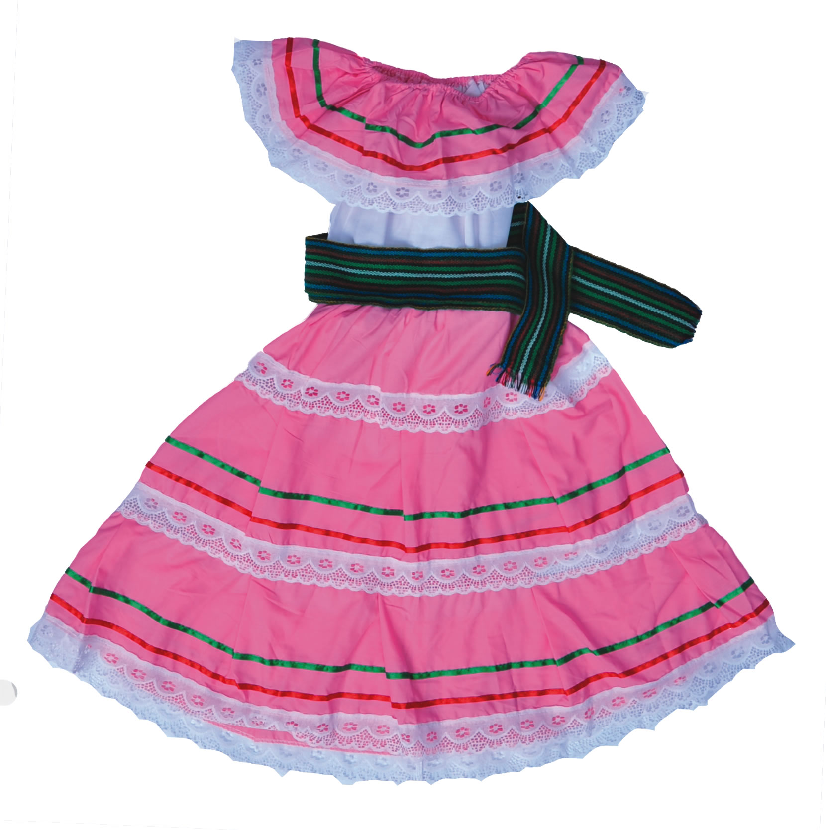 TRADITIONAL MEXICAN DANCE DRESS FOR REHEARSAL Vestido Tradicional ...